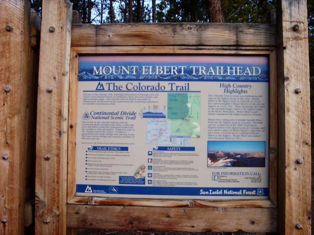 Mt. Elbert Trailhead -- NW Ridge