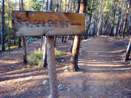 Mt Elbert Trail Turn Off From the CO Trail