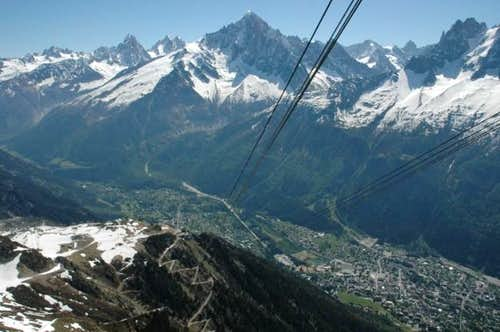 Chamonix from the Brevent...