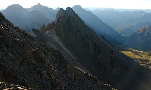 Mount Sneffels, view east from SW ridge