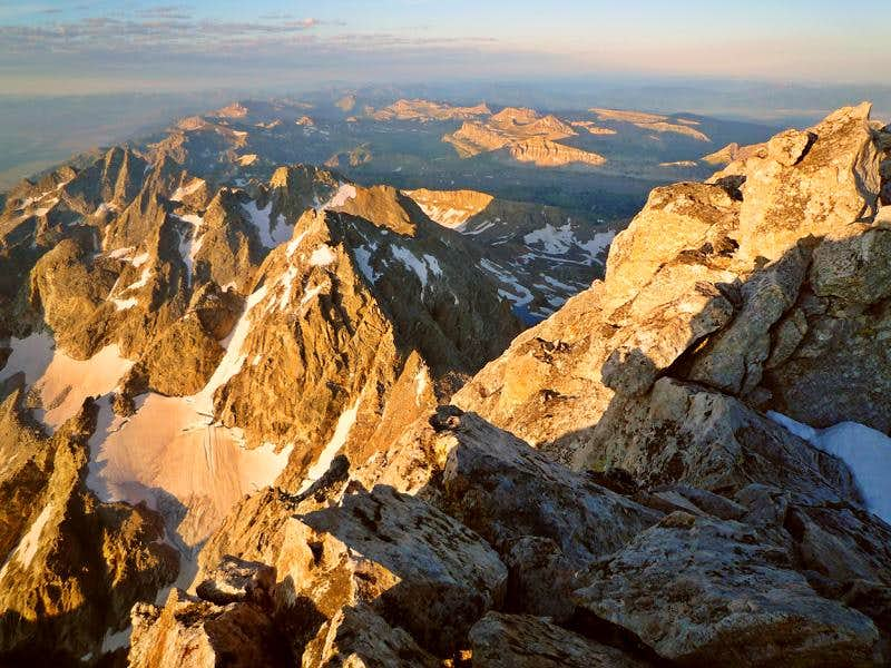 View from the summit of Grand Teton