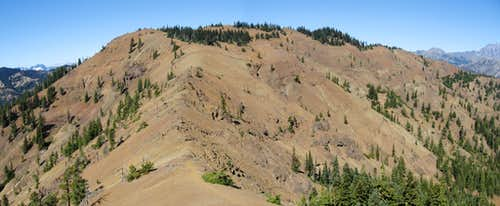Elbow Peak pano from Yellow Hill ridge
