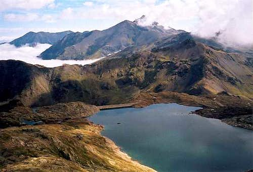 Lago d'Urdiceto from the Fulsa saddle