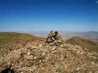 The summit cairn