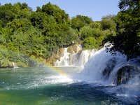 The waterfall Krka