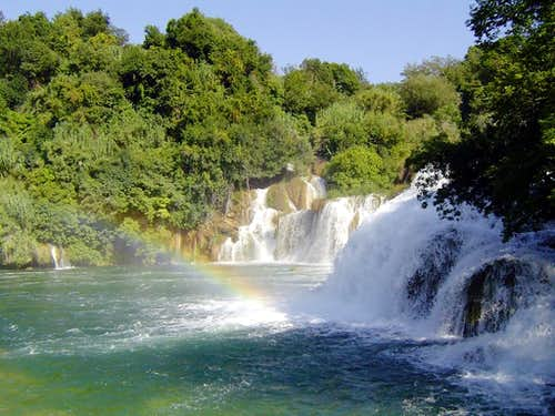 The waterfall Krka