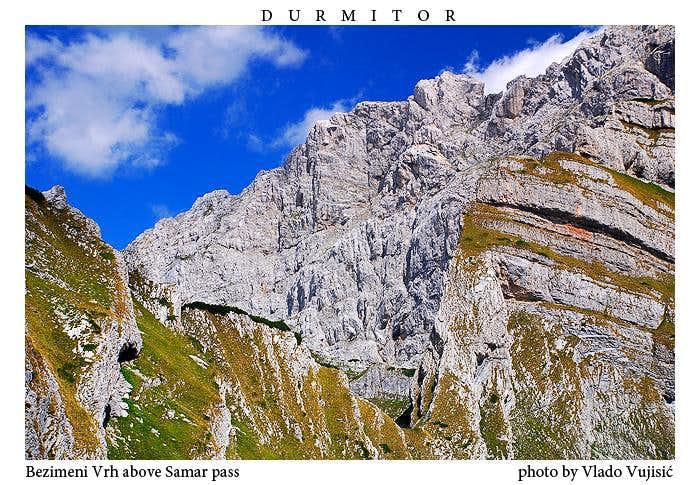 Bezimeni Vrh above the Samar Pass