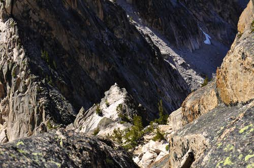 Sawtooth Crest with Mountain Goat