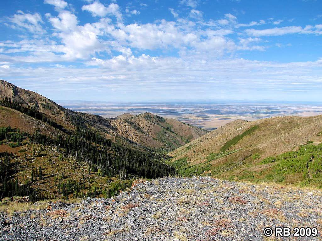 Porter Peak route view