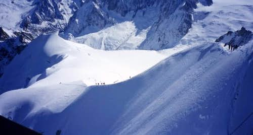 Picture taken from Aiguille...