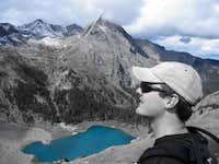 Admiring lower Blue Lake