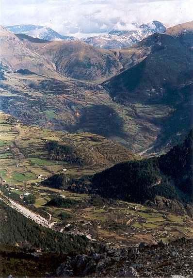 Gistaín valley from Collado de la Cruz de Guardia