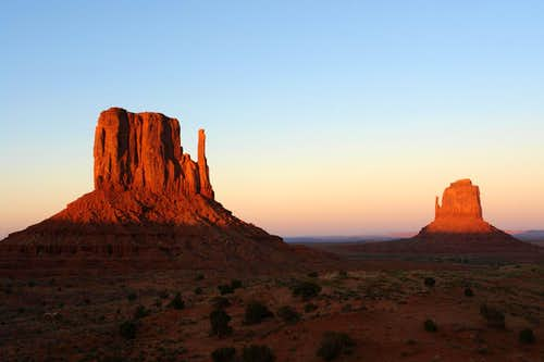 Monument Valley: Mittens at Sunset