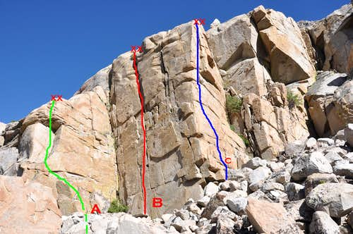 Routes of Ellery Crag