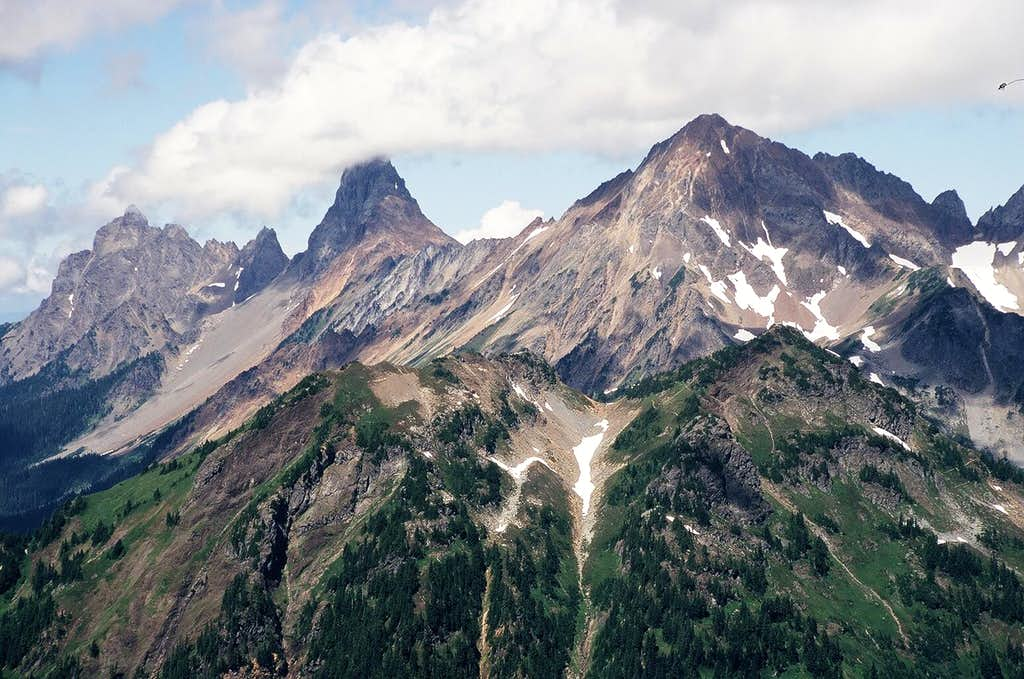 Canadian Border Peak, American Border Peak and Larrabee