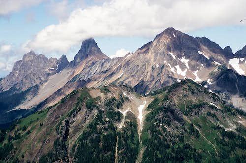 Canadian Border Peak, American Border Peak and Larrabee