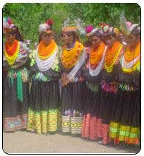 Kalash Girls during a festival