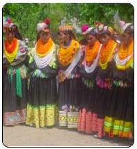 Kalash Girls during a festival
