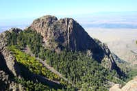 The Thumb, Sandia mountains