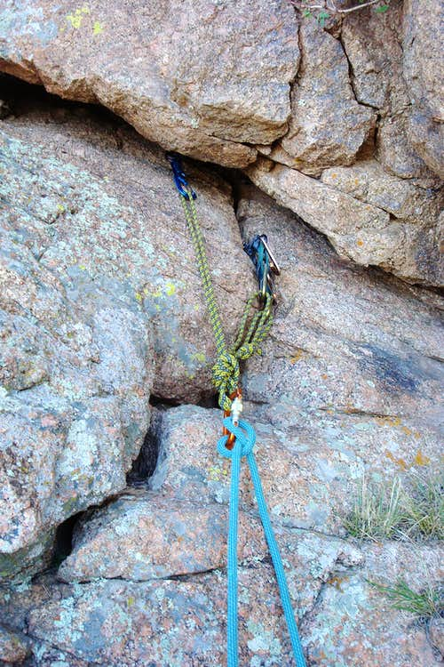 1st belay station, the Thumb