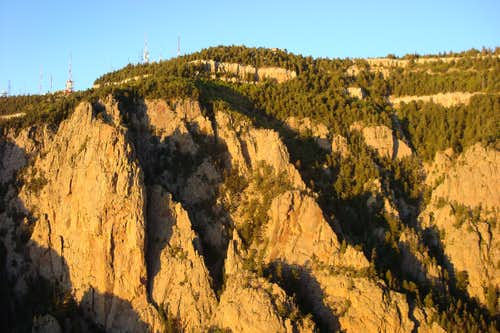 Evening sun on the Sandia Crest