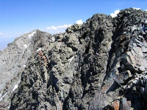 Little Bear Peak\'s summit is...