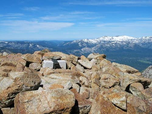 The summit of Freel Peak and...