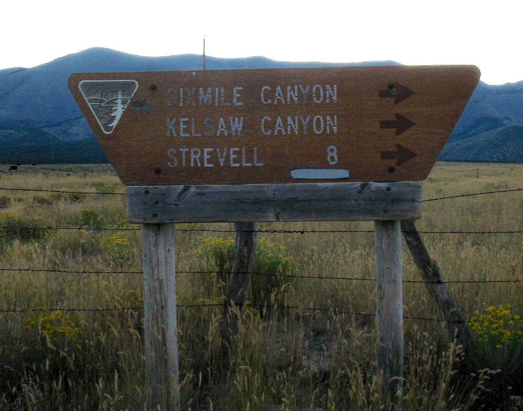 Sign at turn
