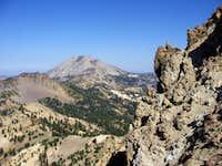 The summit of Brokeoff and Lassen Peak