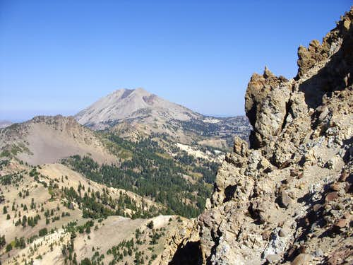 The summit of Brokeoff and Lassen Peak