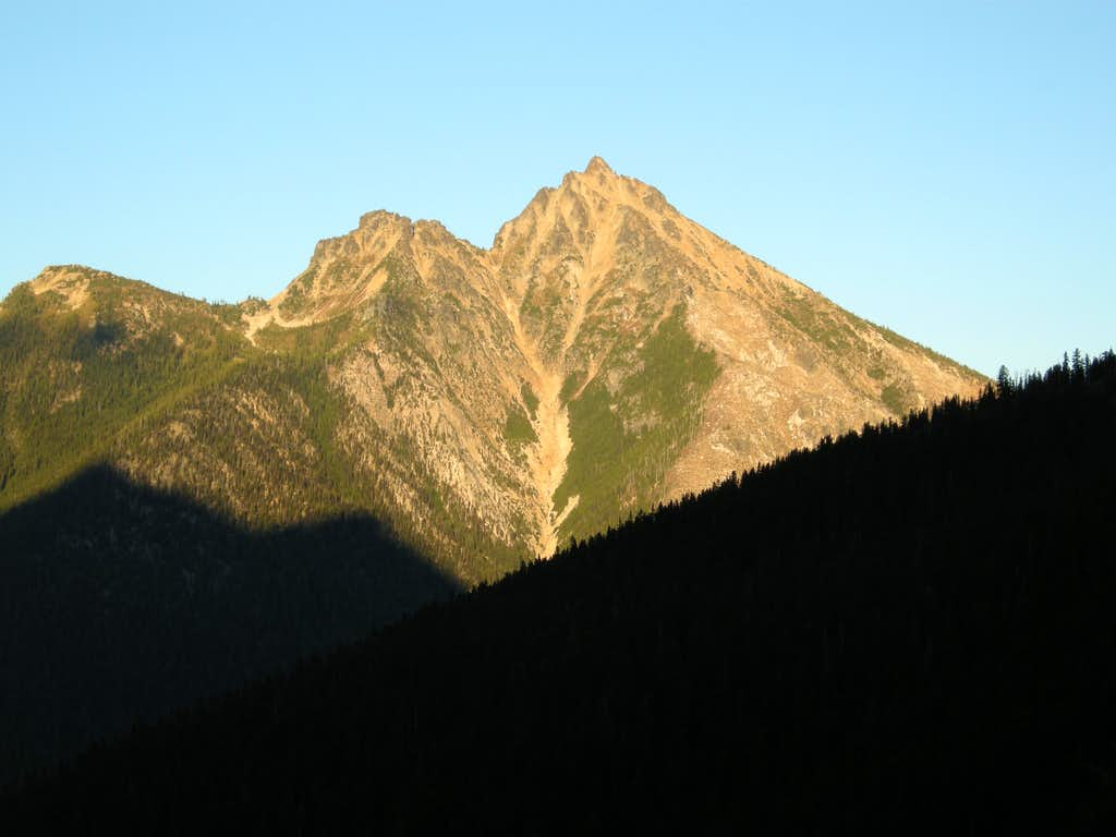 Mount Hardy at Sunset