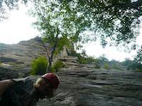 Looking up Northern Pillar, Gunks, NY