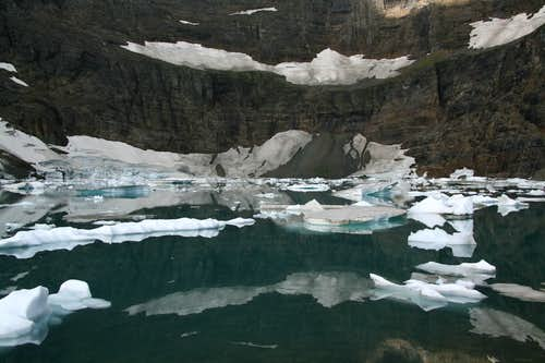 Iceberg Lake-- Snow and Ice