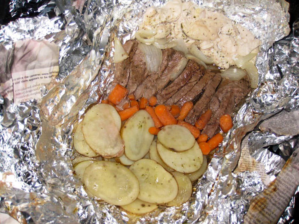 Dinner back at camp