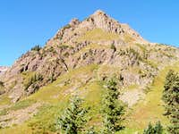 First view of Stony Mountain as you arrive at Yankee Boy Basin