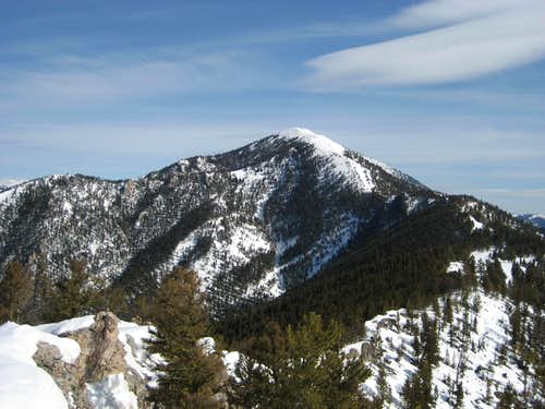 Baldy Mountain (false summit)