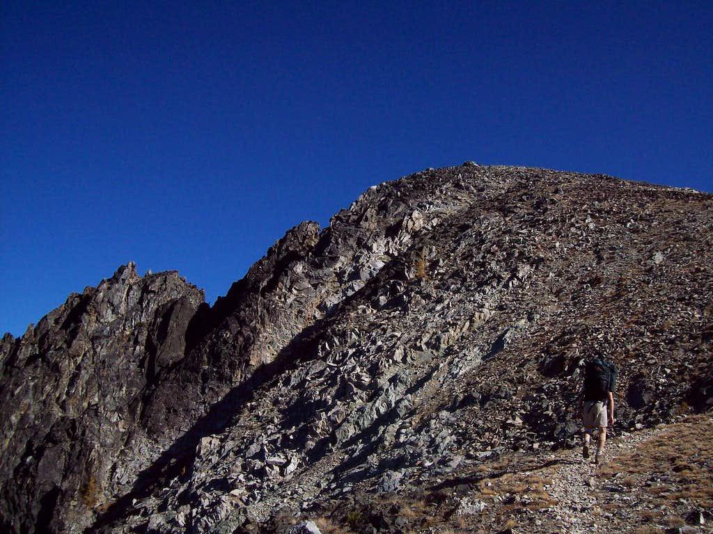 Nearing the summit of Pyramid Mountain