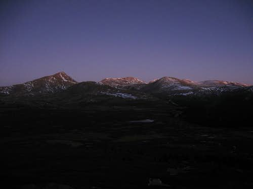 Sunrise from Mt. Bierstadt trail