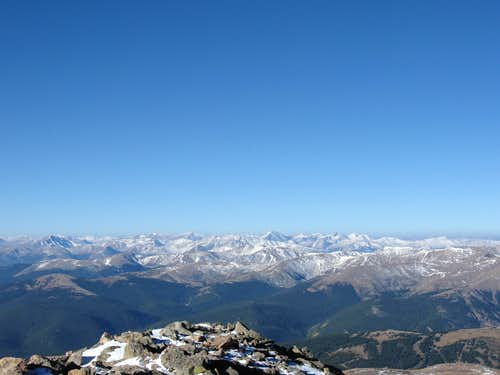 Looking West from Mount Bierstadt