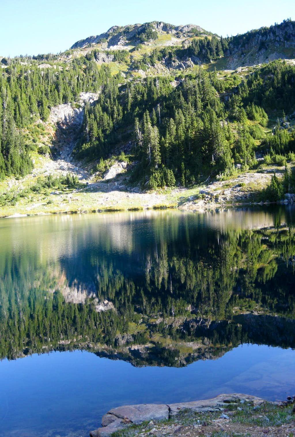 5040 Peak Reflected in Cobalt Lake
