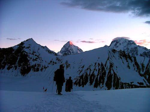 K2 & Broad Peak as seen from Top of Gondogoro Pass