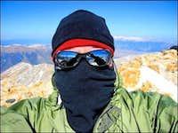 Mt. Belford - John Little on the Summit - Self Portrait