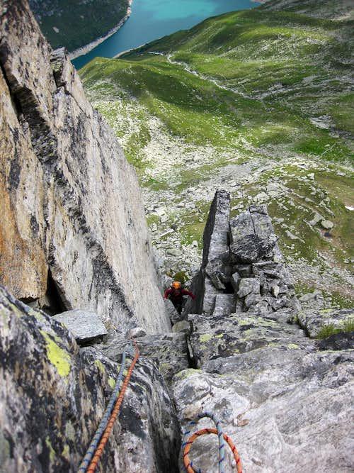 Climbing the NE-Ridge