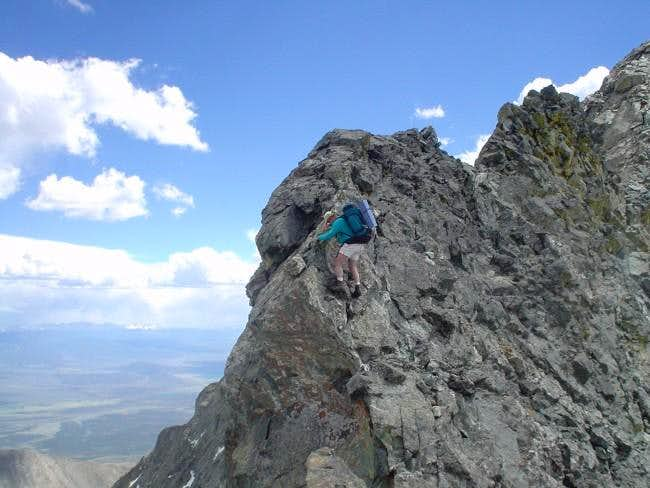 Gary on the traverse from...