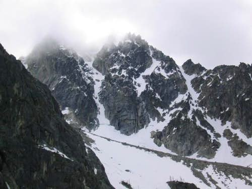 The north buttress couloir on...