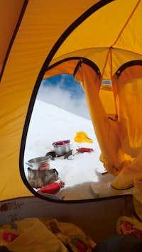 Melting ice at camp 2