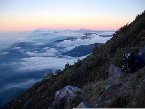 Santa María sunrise (view west)