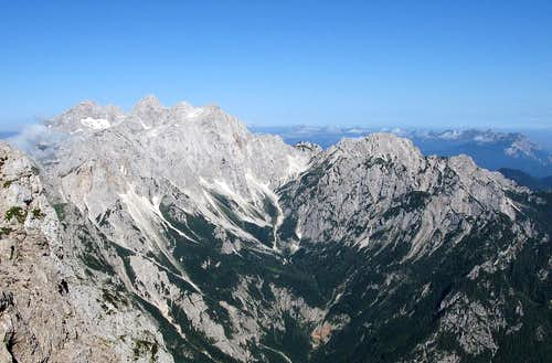 The view from Ojstrica summit