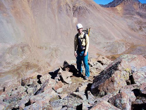 Me on the North Buttress, El Diente