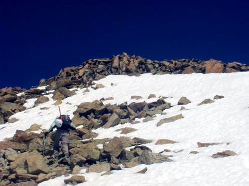 Angi ascends Dyer\'s south...